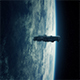 Spaceship Orbiting Earth In Lightning Storm - VideoHive Item for Sale