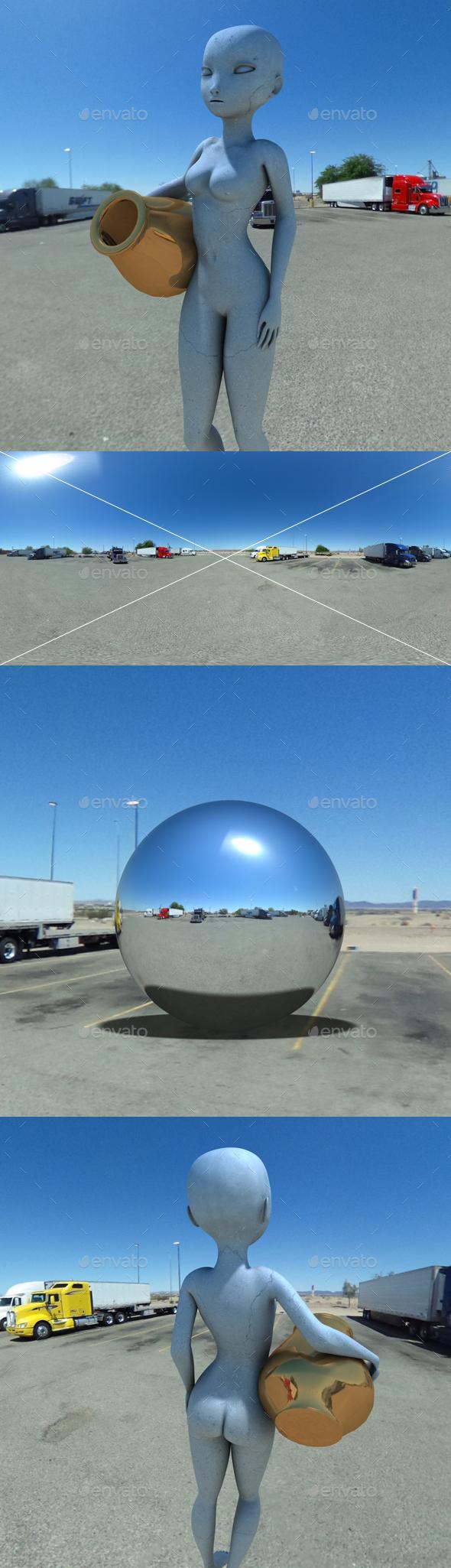 Desert Truck Stop HDRI - 3DOcean Item for Sale
