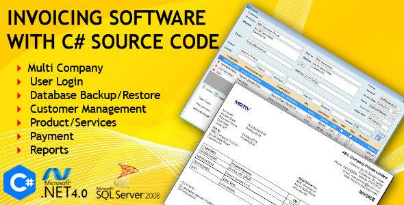 Invoicing Software with C# Source Code            Nulled
