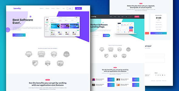 Software & SaaS App Landing Page Template — Launchy