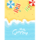Summer Sandy Beach - GraphicRiver Item for Sale