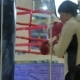Boxing Woman Training Punching Bag in Fitness Studio Fierce Strength Fit Body Kickboxer Series - VideoHive Item for Sale