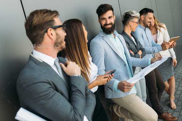 Group of perspective designers discussing in office - Stock Photo - Images