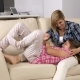 Mother Tickling Her Young Teenage Daughter on the Sofa - VideoHive Item for Sale