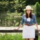 Young American Cowgirl Woman Portrait Outdoors - VideoHive Item for Sale