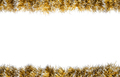 Seamless Christmas gold silver tinsel frame - PhotoDune Item for Sale