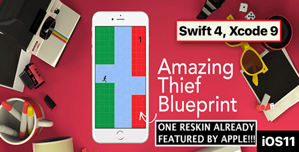 Amazing Thief Blueprint  – One Hour Reskin, iOS 11, Swift 4 Ready - CodeCanyon Item for Sale