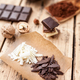 Delicious chocolate on wooden background - PhotoDune Item for Sale