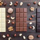 Delicious variety of chocolate on wooden background - PhotoDune Item for Sale