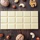 Delicious white chocolate on wooden background - PhotoDune Item for Sale
