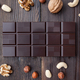Delicious dark chocolate on wooden background - PhotoDune Item for Sale