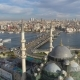 The Blue Mosque Sultanahmet in Istanbul, Turkie. Aerial Drone View Shot. Blue Sky, Sunset. - VideoHive Item for Sale