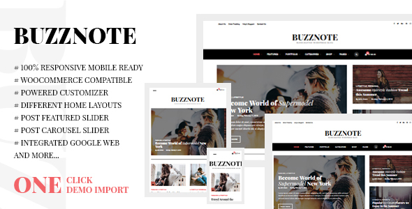 Buzznote – A Responsive WordPress Blog Theme
