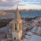 Aerial Drone Shot of Sunrise in Istanbul, Turkey - VideoHive Item for Sale