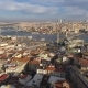 Aerial Drone Shot of Sunny Day in Istanbul, Turkie. From Above, City Centre, Downtown. Bosphorus - VideoHive Item for Sale