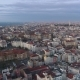 Aerial Drone Shot of Sunrise in Istanbul, Turkie. From Above, City Centre, Downtown. Bosphorus - VideoHive Item for Sale