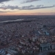 Aerial Drone Shot of Sunset in Istanbul, Turkie. From Above, City Centre, Downtown. Bosphorus - VideoHive Item for Sale