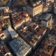 Aerial Drone Shot of Sunset in Istanbul, Turkie. From Above, City Centre, Downtown. Bosphorus. - VideoHive Item for Sale