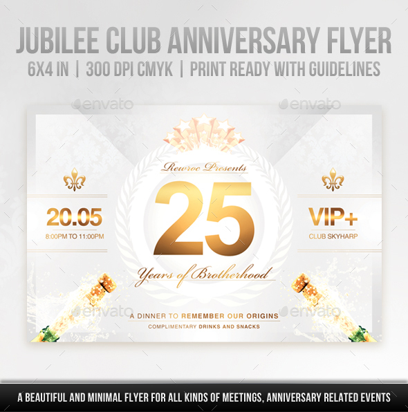 Jubilee Club Anniversary Flyer By Rewroc  Graphicriver