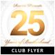 Jubilee Club Anniversary Flyer
