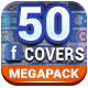 50 Facebook Covers Megapack Edition - GraphicRiver Item for Sale