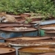 The Cat Lies on Old Rusty Barrels - VideoHive Item for Sale