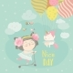 Girl with Her Little Unicorn - GraphicRiver Item for Sale