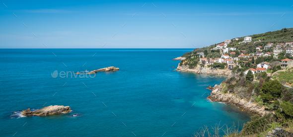 Beautiful coast of Adriatic sea - Stock Photo - Images