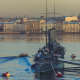 View of the Cruiser Aurora in St. Petersburg - VideoHive Item for Sale