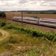 Express High-speed Train Passing Throung Beautiful French Rural Countryside Towards the Direction of - VideoHive Item for Sale