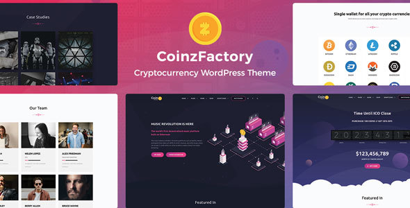 CoinzFactory - Cryptocurrency WordPress Theme - Technology WordPress