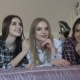 Three Young Girls Having Relax on Bed in Fashionable Home - VideoHive Item for Sale