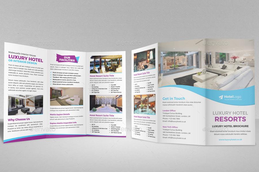 Luxury Hotel Resort Trifold Brochure By Jbn Comilla Graphicriver