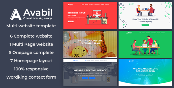 Avabil Creative Agency HTML Templates