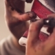 Face Art. The Makeup Artist Applying Mascara - VideoHive Item for Sale