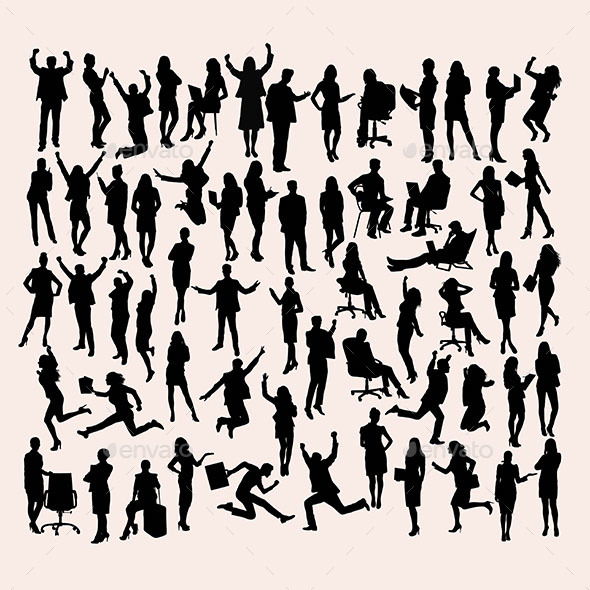 Business Activity Silhouettes - People Characters