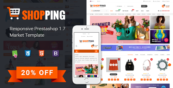 Shopping – Clean Multipurpose Responsive PrestaShop 1.7 eCommerce Theme