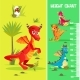 Vector Height Chart Wall Meter Baby Dinosaurs