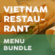 Vietnamese Restaurant Menu Print Bundle 4 - GraphicRiver Item for Sale