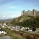 Aerial View of the Skyline of Harlech with Its 12th Century Castle in Wales, United Kingdom - VideoHive Item for Sale
