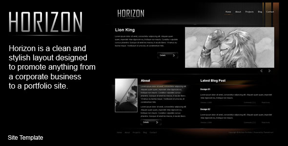 Free Download Horizon Html Template Nulled Latest Version