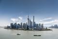 shanghai skyline against a blue sky in daytime - PhotoDune Item for Sale