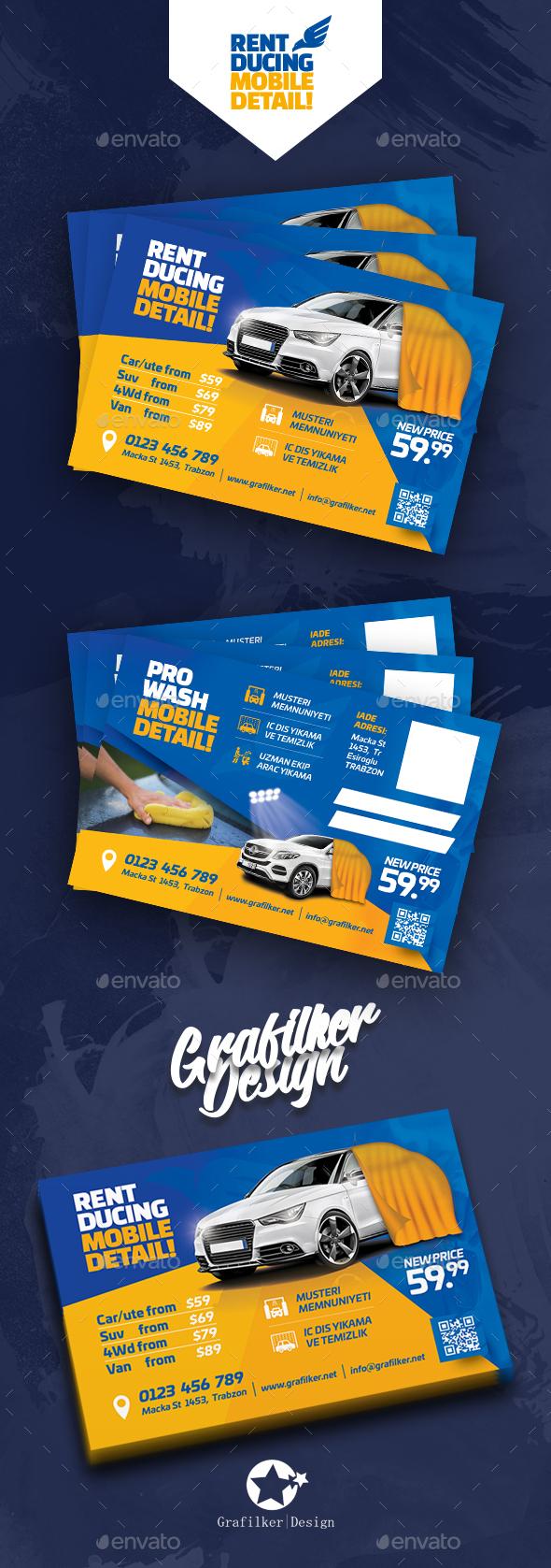 Car Wash Postcard Templates - Cards & Invites Print Templates