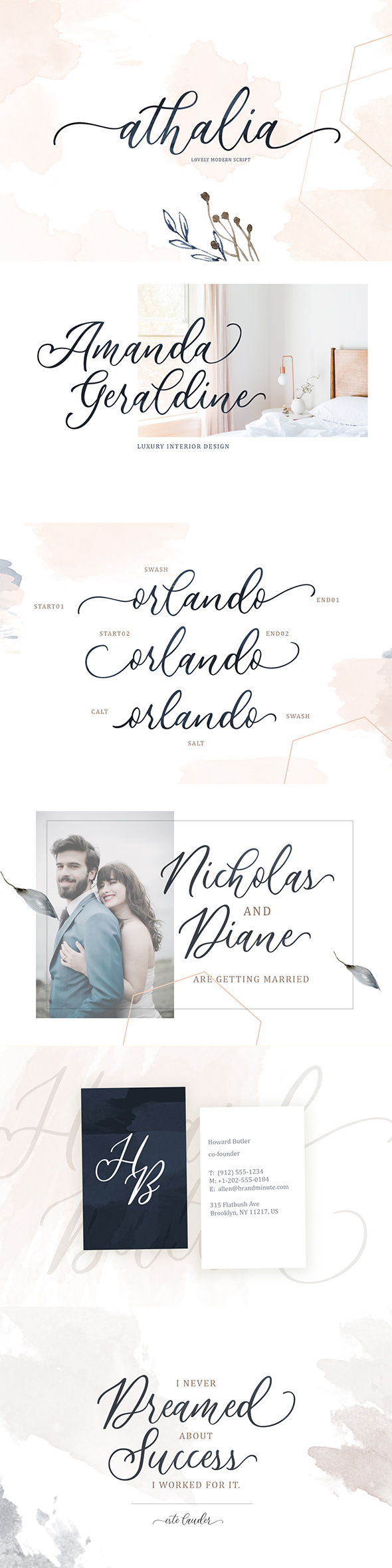 Athalia - Modern Calligraphy Script - Script Fonts