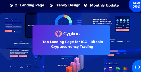 ICO Cryptian – ICO, Bitcoin and Cryptocurrency Landing Page HTML Template