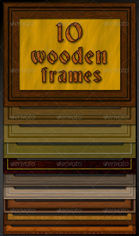 10 Wooden Frames - Nature Photo Templates