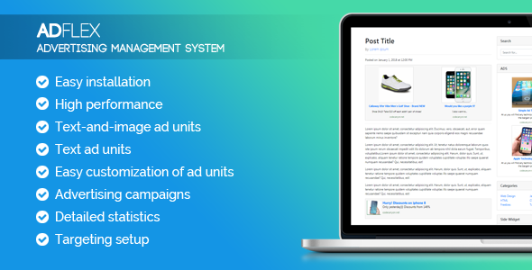 AdFlex - ads management system - CodeCanyon Item for Sale