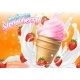 Ice Cream Strawberry Cone Dessert Vector