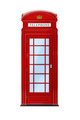 a typical London phone booth isolated on white - PhotoDune Item for Sale