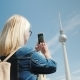 A Woman Takes Photos of the Berlin TV Tower. Journey Through Berlin and Europe Concept - VideoHive Item for Sale